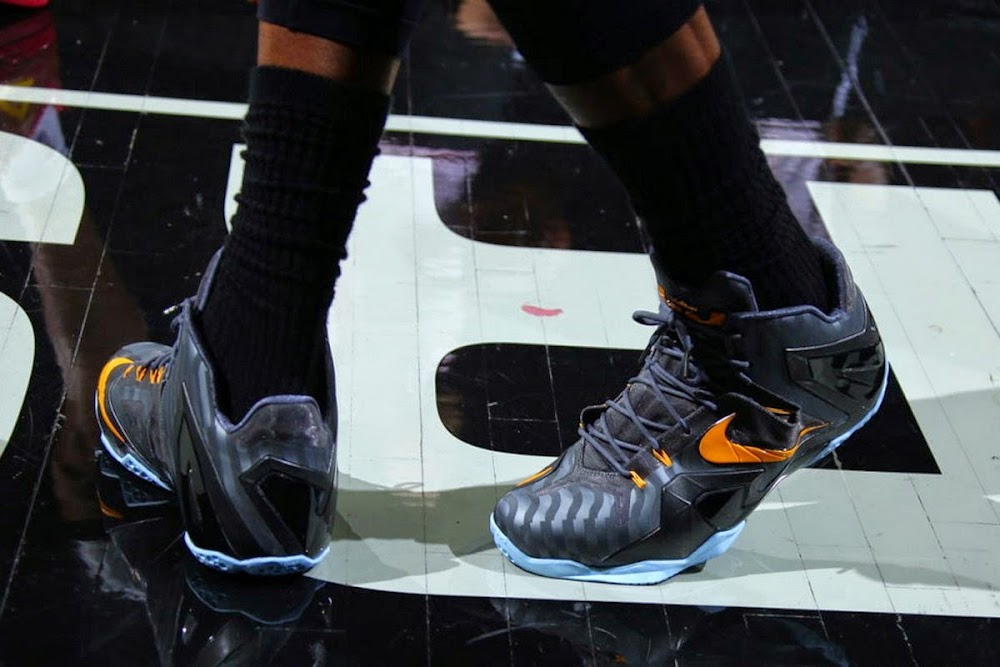 e6ef913a98a ... King James Wears Nike LeBron 11 Elite Finals PE on Media Day ...