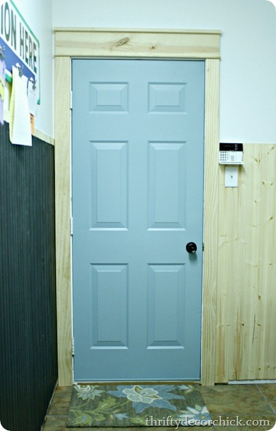 blue mudroom door