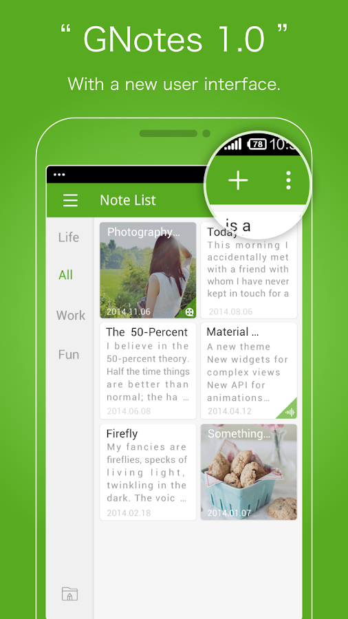 GNotes - Note everything - screenshot