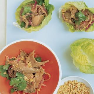 Asian Beef in Lettuce Cups