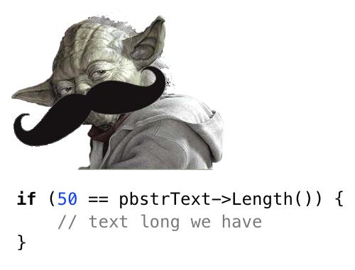 Condizionali alla Yoda