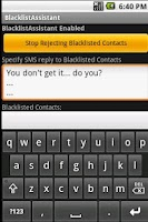 Screenshot of Call Blocker