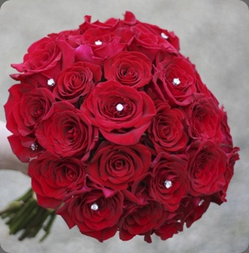 red-rose-jewel-bouquet bride and bloom flowers