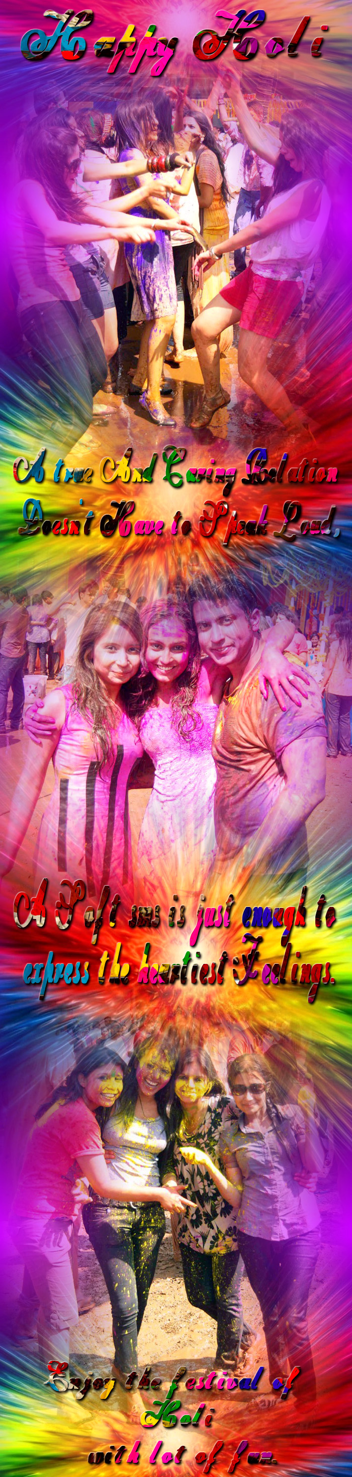 Happy Holi - Beautiful Holi Ecard  IMAGES, GIF, ANIMATED GIF, WALLPAPER, STICKER FOR WHATSAPP & FACEBOOK