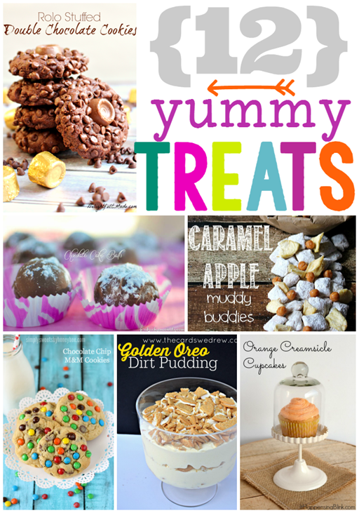 12 Yummy Treats at GingerSnapCrafts.com #desserts #yummy #linkparty #features