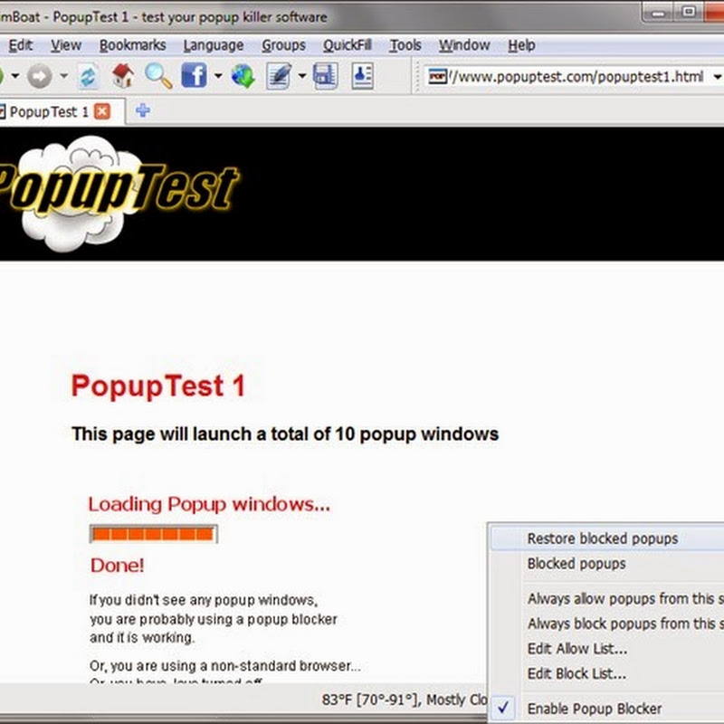 SlimBoat Guide: Kill Popups with Popup Blocker and Popular Web Service Integration.