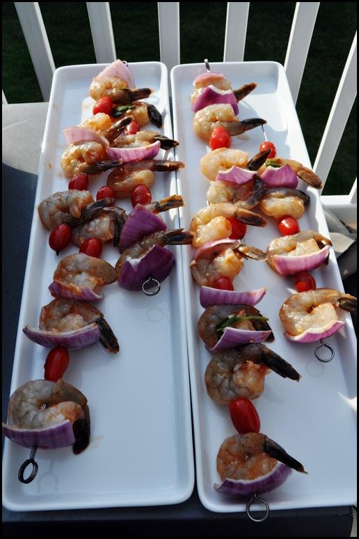 Grilled garlic shrimp & rice 002