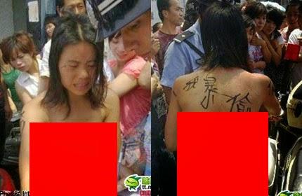 5 Gambar Gadis Dituduh Pencuri Dib0gelkan Orang Ramai
