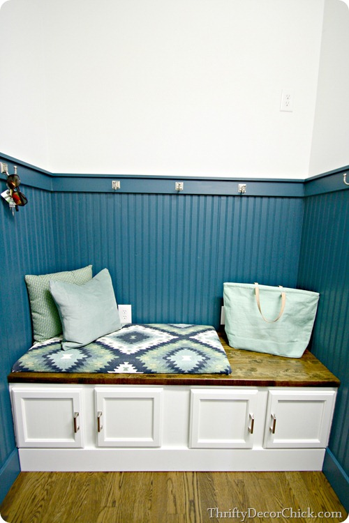 DIY bench mud room