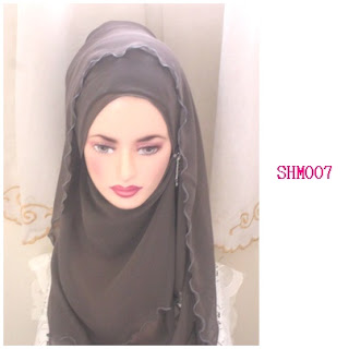 shawl halfmoon plain grey