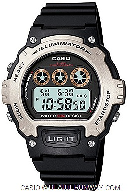 CASIO G-FACTORY JCUBE SHOPPING MALL OPENS G-MAN STATUE BY SHINO NAKANO Casio W-214H-1AV, special buy casual sporty timepiece