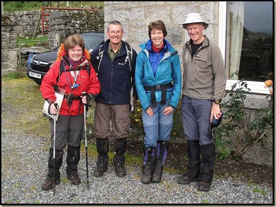 Outside Bridge of Gaur Guest House - Julie, Gary, Sue and Martin