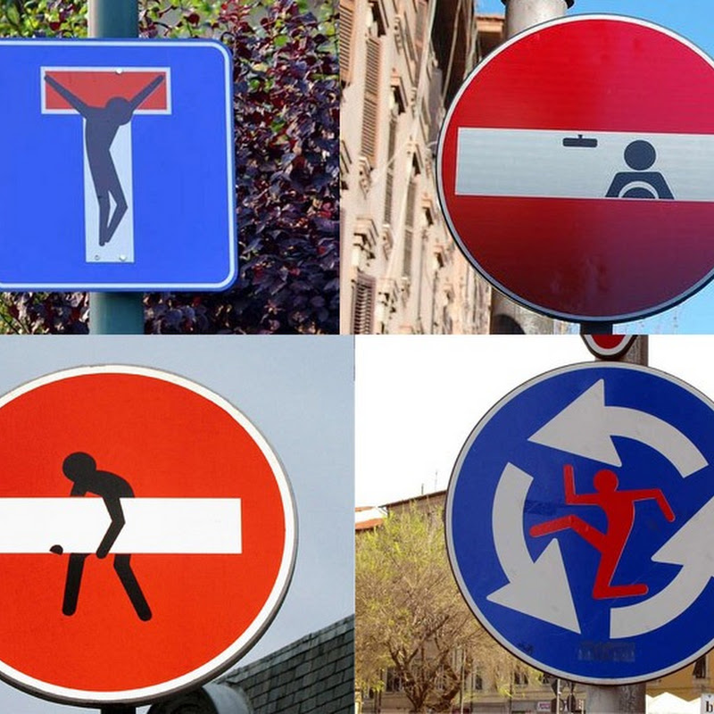 Altered Street Signs by Clet Abraham