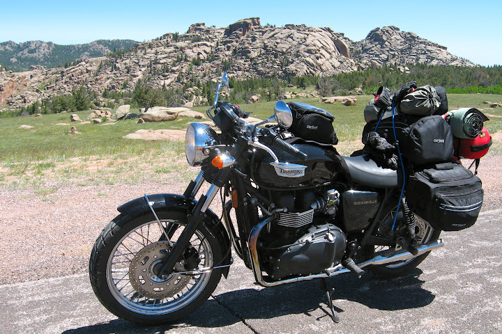 Touring On Bonneville Set100 Adventure Rider