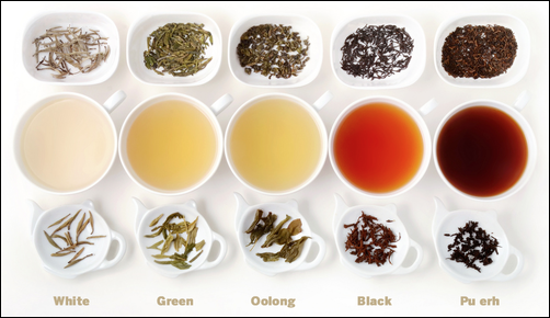 Health Benefits of Black tea-Green Tea-White tea-Oolong tea-Pu erh tea