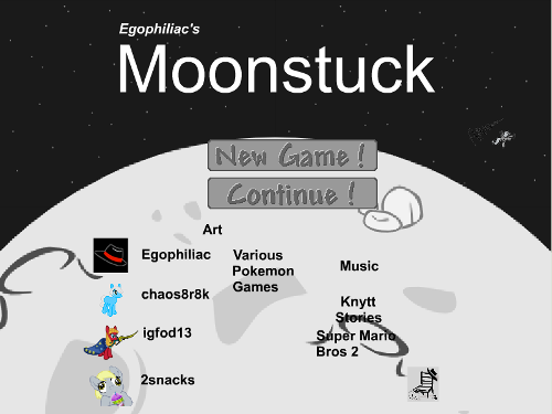 The Moonstuck title screen