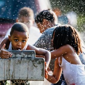 Summertime Cool by Kevin Case - Babies & Children Children Candids ( urban, streetphotography, newyorkcity, children, candid, kids, summertime,  )