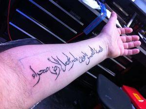 tatuajes de frases en letras arabes