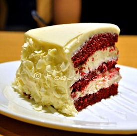 Red velvet cake with cream chesse frosting