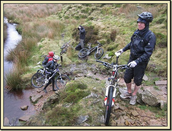 Mountain bikers in Danebower Quarry
