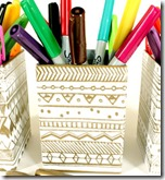 Tribal-Aztec Designs Pencil Holders