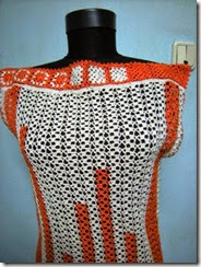 crochet top orange 2