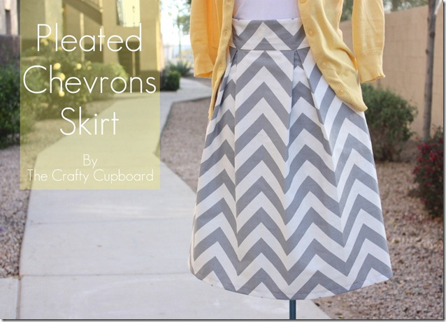 Summer Skirt Pattern Roundup featured by top US sewing blog, Flamingo Toes: Pleated Chevrons Title