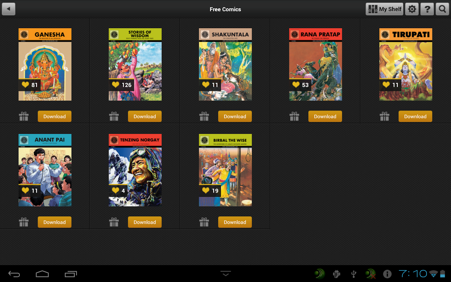 ACK Comics - screenshot