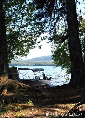 Campsite View - Boat and Lake