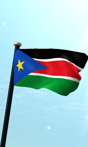 南スーダンフラグ3D無料ライブ壁紙