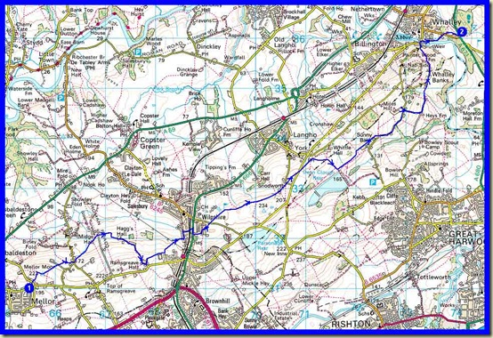 Our route - 14 km with 340 metres ascent, taking 4 hours
