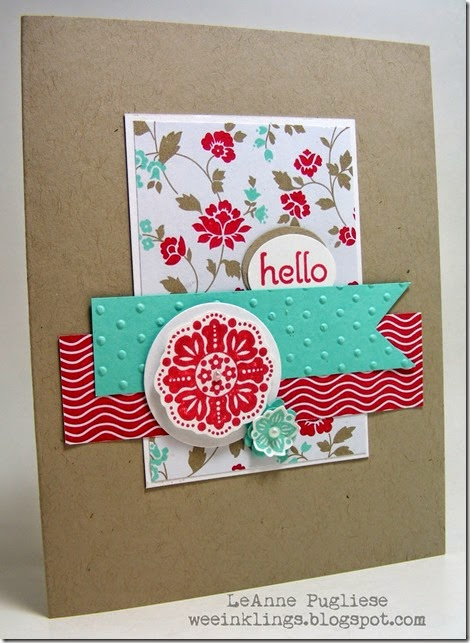 LeAnne Pugliese WeeInklings Stamping Up Hello