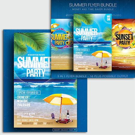 Summer Flyer Bundle V.1 - Stock đẹp