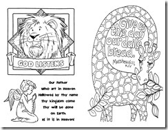 God hears our prayers coloring pages ~ Homegrown Catholics - St Brigids Academy Blog: A Prayer Safari - Craft Ideas