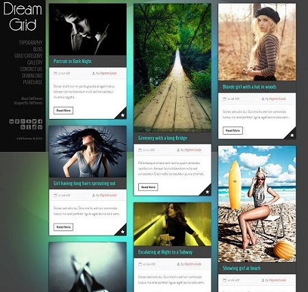 Template Blogspot - Dream Grid rất đẹp