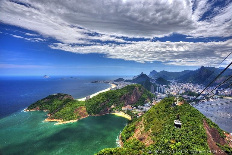 View from azucar sugarloaf mountain of Rio PPS