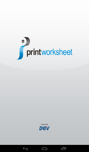 Print Worksheet