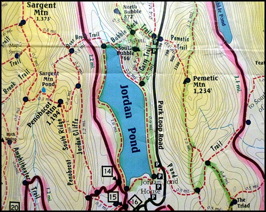 00 - Map - Hiking the Bubbles and Jordan Pond