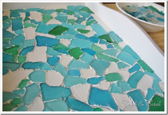 lay sea glass on adhesive (800x533)