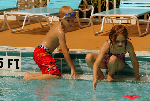Grandkids at the swimming pool