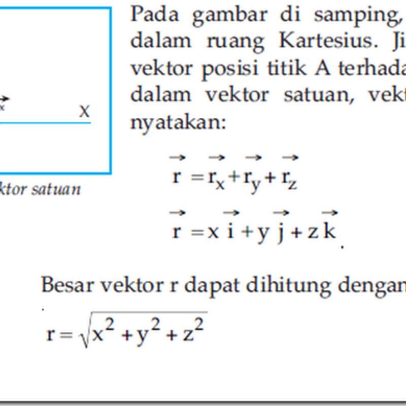 Contoh Soal Vektor Satuan Matematika Peminatan Ilmu Pengetahuan 7