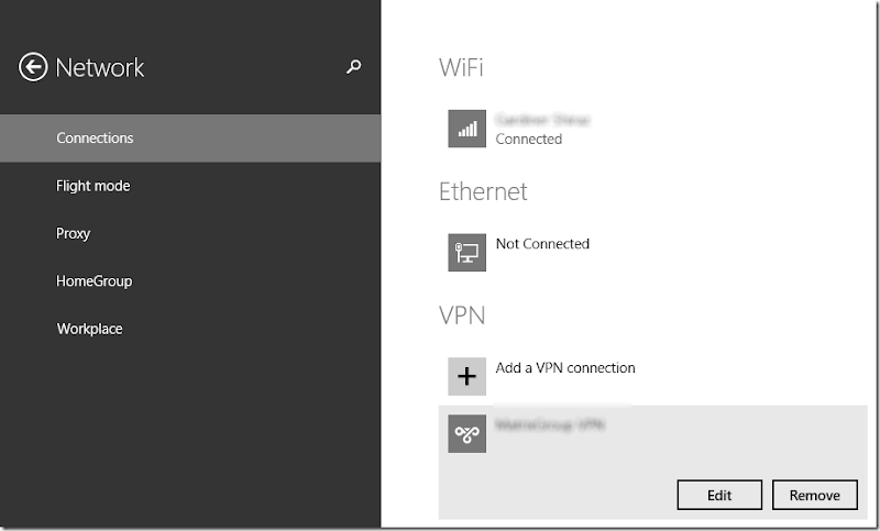 Windows 8.1 VPN Settings