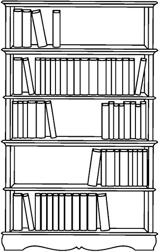 Dibujos De Bibliotecas Para Colorear