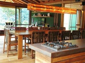 cocina moderna casa de madera