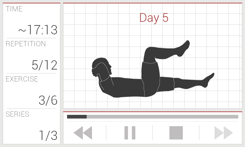 Abs workout - screenshot