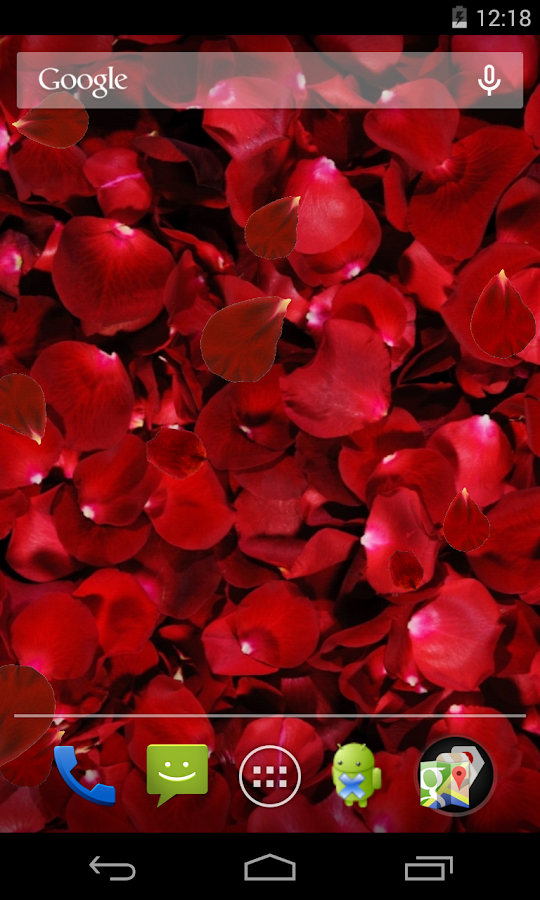 Rose petals Live Wallpaper - screenshot