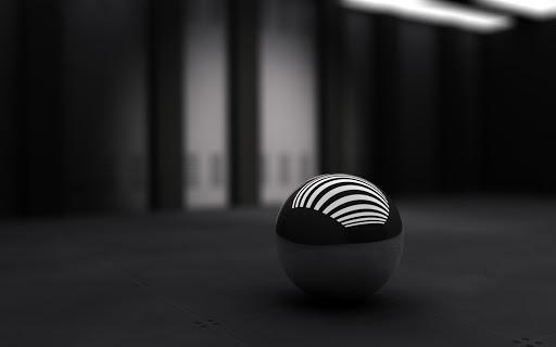 3D Black Ball Wide