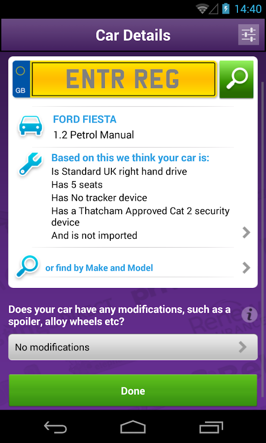 MS Car Insurance - screenshot