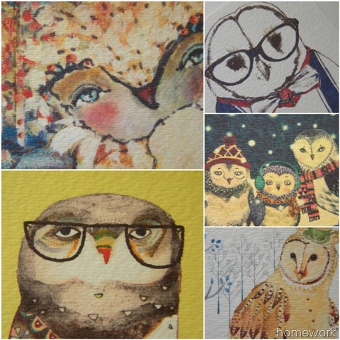 Owl Calendar collage