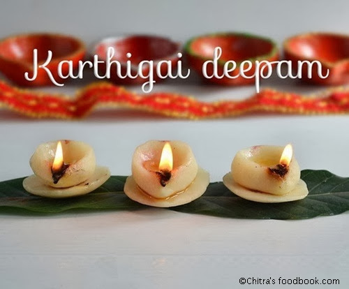 Karthigai deepam using dough
